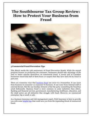 The Southbourne Tax Group Review: How to Protect Your Business from Fraud