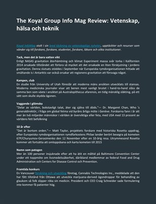The Koyal Group Info Mag Review: Vetenskap, hälsa och teknik