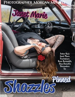 Shazzles Pinned Issue #100 VOL 4 Cover Model Janet Marie.