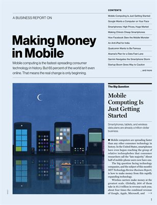 Making Money in Mobile