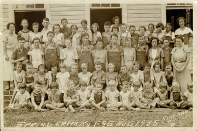 1935 1-8 Grades, Spring Creek School, Calloway County, Kentucky