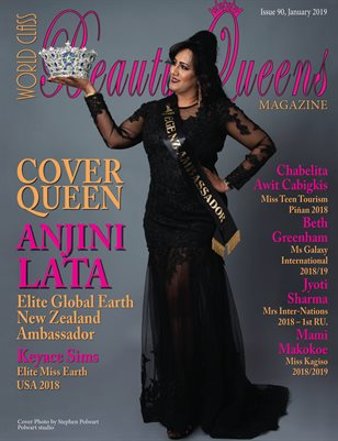 World Class Beauty Queens Magazine issue 90 with Anjini Lata