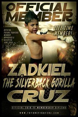Zadkiel Cruz Gold Diploma Poster
