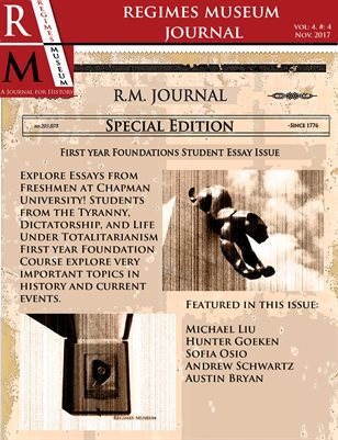 Regimes Museum Journal Volume 4, Issue 4 Special