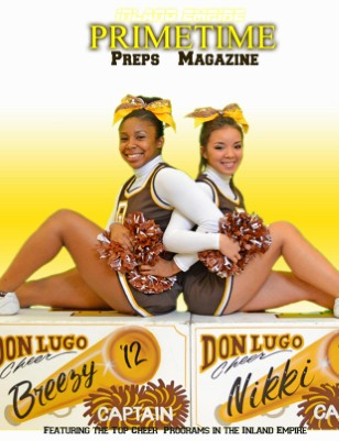 Inland Empire Prime Time Preps Magazine Don Lugo Cheer Edition April 2012