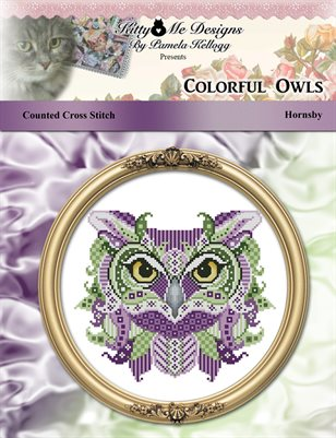 Colorful Owls Hornsby Counted Cross Stitch Pattern