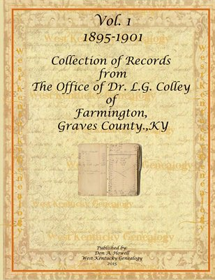 Vol.1 1895-1901 Dr. L.G. Colley Book From Farmington, Graves County, Kentucky