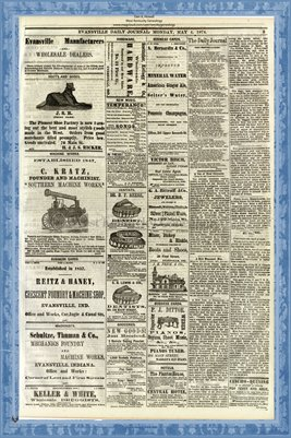 (PAGES 3-4) May 4, 1874 Evansville Daily Journal, Evansville, Indiana