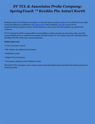 SV TCL & Associates Probe Company: SpringTouch ™ Kevään Pin Anturi Kortit