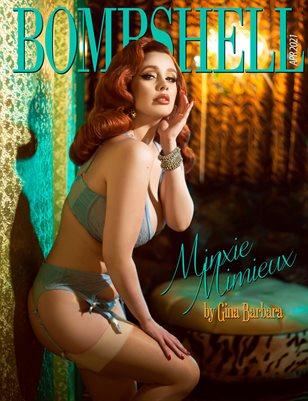 BOMBSHELL Magazine April 2021 BOOK 1 - Minxie Mimieux Cover