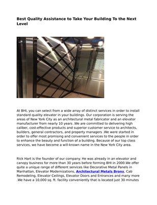 BHI Elevators