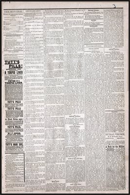 (PAGES 3-4) MARCH 08, 1879 MAYFIELD MONITOR NEWSPAPER, MAYFIELD, GRAVES COUNTY, KENTUCKY