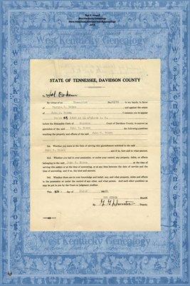 No.30178a, 1930, Davidson County, Tennessee, In the Supreme Court, Martha Brown vs. John C. Brown