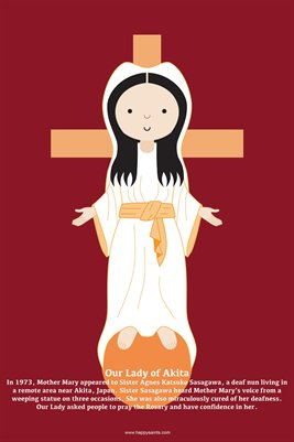 Happy Saints Our Lady of Akita Poster