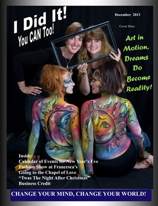 I Did It Magazine Body Art December 2013 Michelle Phillips-Trademan and Margaret Mauthe
