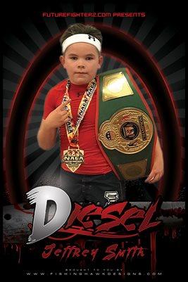 Jeffrey Diesel Smith Red Blade Poster