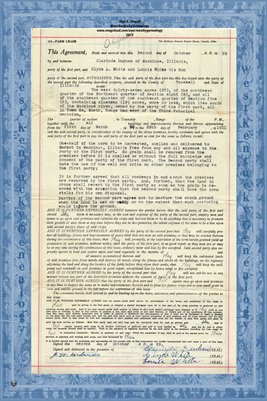 1929, Farm Lease, Clarinda Dunham & Clyde A. White & Lonnie White, Tazewell County, IL.
