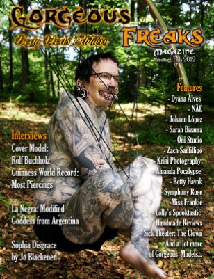 "Gorgeous Freaks Magazine Issue 4 ""Body Mod Edition"" Male Cover"