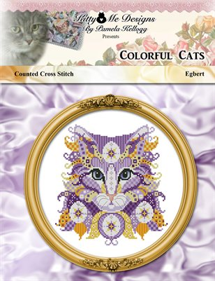 Colorful Cats Egbert Counted Cross Stitch Pattern