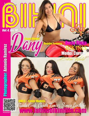 LATINO BIKINI LIFE MAGAZINE - Cover Model Dany & OWLS Female Football Team - October 2016