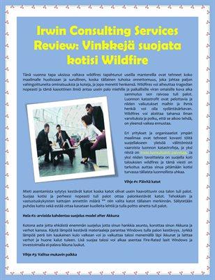 Irwin Consulting Services Review: Vinkkejä suojata kotisi Wildfire