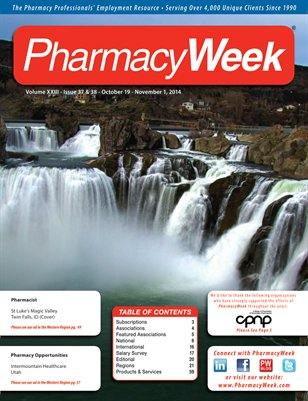 Pharmacy Week, Volume XXIII - Issue 37 & 38 - October 19 - November 1, 2014