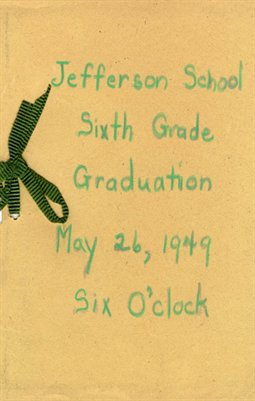 1949, Jefferson School Sixth Grade Graduation