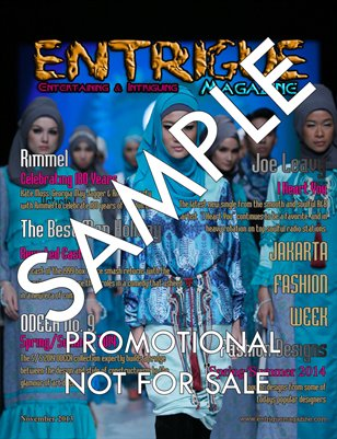 Entrigue Magazine Promotional Copy #3 Fashion