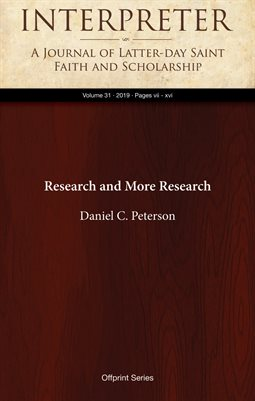 Research and More Research