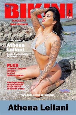 BIKINI INC USA MAGAZINE COVER POSTER - Cover Model Athena Leilani - August 2020