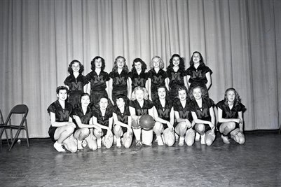 Feb.15, 1947 Mayfield High School Girls Basketball Team