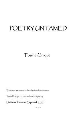 Poetry Untamed