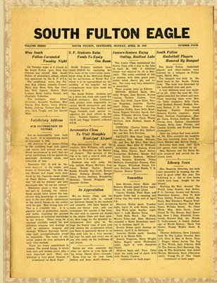 April 30 1945 South Fulton Eagle, South Fulton, Tennessee