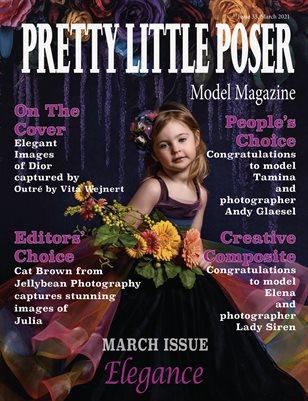 Pretty Little Poser Model Magazine - Issue 33 - Elegance - March 2021