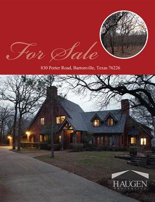 Haugen Properties -  830 Porter Road, Bartonville, Texas76226