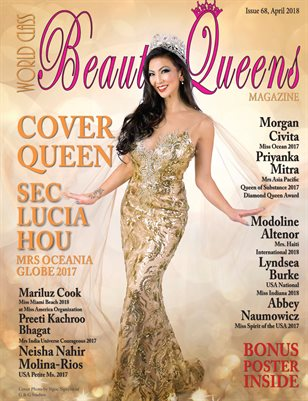World Class Beauty Queens Magazine Issue 68 with Sec Lucia Hou