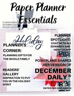 Paper Planner Essentials Magazine December 2020