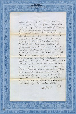 "1862 ""DEED-OF-RELEASE"" from Wm S. PELL to JAMES W. AILLS from Lewis County ( Vanceburg), Kentucky"