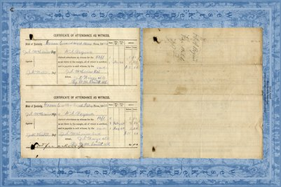 1870 Graves Circuit Court, J.A. McCain vs. J.H. Watts,Certificate of Attendance