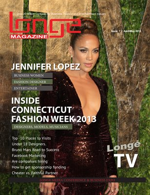 Longe Magazine Issue # 7 (Jennifer Lopez A Business Women, Fashion Designer & Musician)