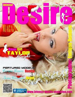 INTENSE DESIRE MAGAZINE - Cover Girl Taylor Knight - December 2016