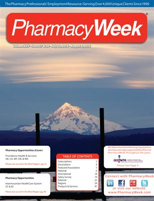 Pharmacy Week, Volume XXV - Issue 27 & 28 - July 24, 2016 - August 6, 2016