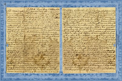 1836 Russellville, Logan County, Kentucky Letter ( Just says Dear Friend)