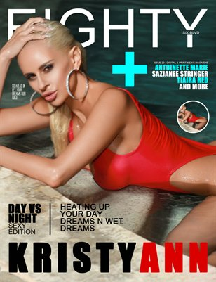 eighty6 blvd magazine- DAY VS NIGHT EDITION ( KRISTY RED OUTFIT COVER)