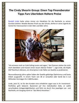 The Cindy Shearin Group: Einen Top Finanzberater Tipps Furs Uberleben Hohere Preise