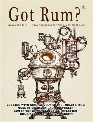 """""""Got Rum?"""" November 2018"""
