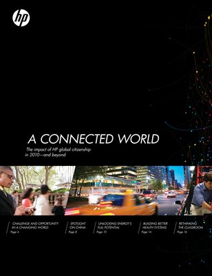 A CONNECTED WORLD: The impact of HP and global citizenship in 2010—and beyond