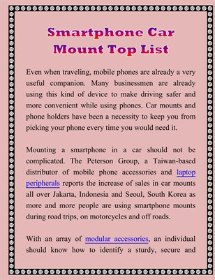 Smartphone Car Mount Top List