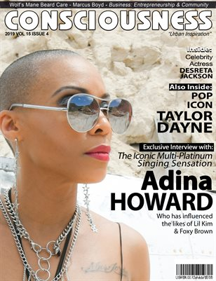 Adina Howard featured on Cover of Consciousness Magazine