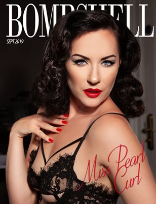 BOMBSHELL Magazine September 2019 BOOK 2 - Miss Pearl Curl Cover
